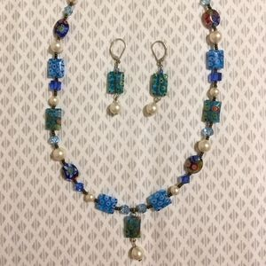 Emily Ray Millefiori Glass Sterling Silver Set